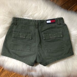 Tommy Hilfiger Green Distressed Shorts